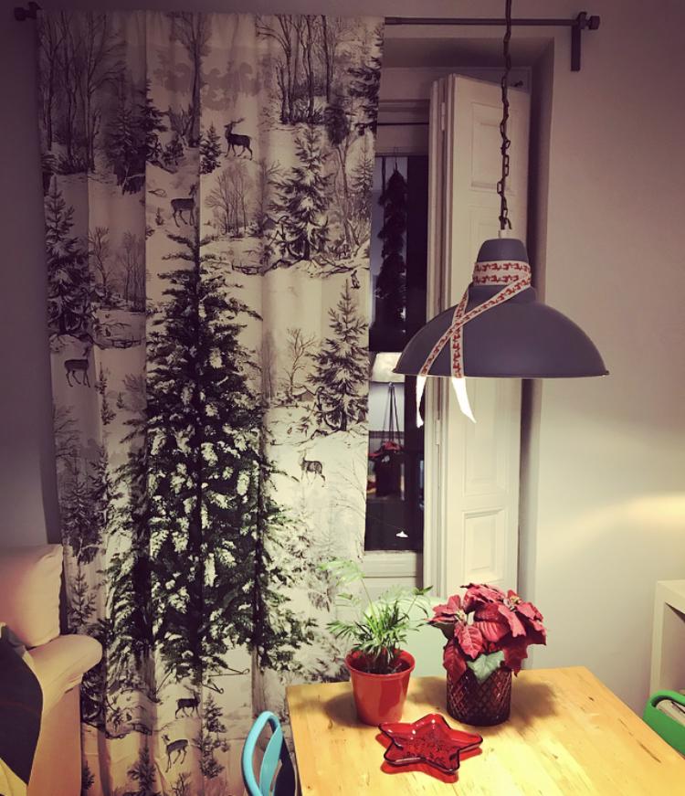 Panel de Cortina Navideño - H&M Home